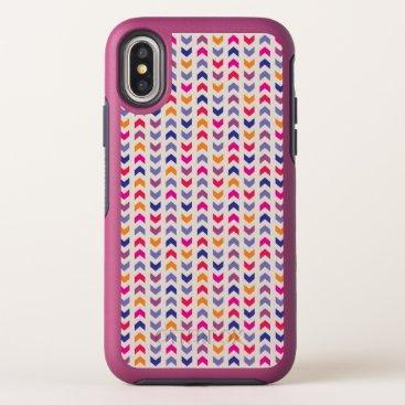 Aztec Themed Aztec Chevron colorful pattern OtterBox Symmetry iPhone X Case