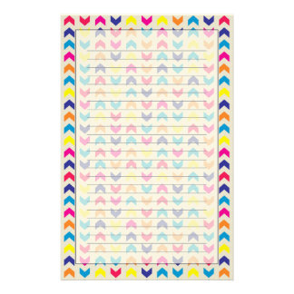 Aztec Chevron colorful Stationery Paper