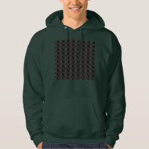 Aztec Chevron dark Pattern zigzag stripes hoodie