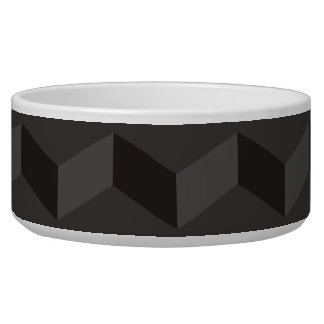 Aztec Chevron dark Pattern zigzag stripes pet bowl