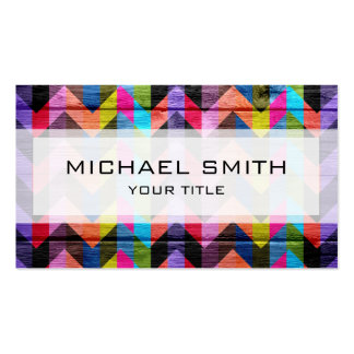 Aztec chevron zigzag pattern #2 Double-Sided standard business cards (Pack of 100)