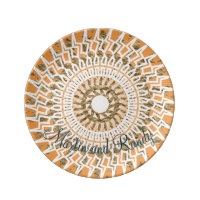 Aztec Circle Photo Template Dinner Plate