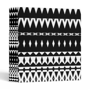Aztec Themed Aztec - Classic Black And White Binder