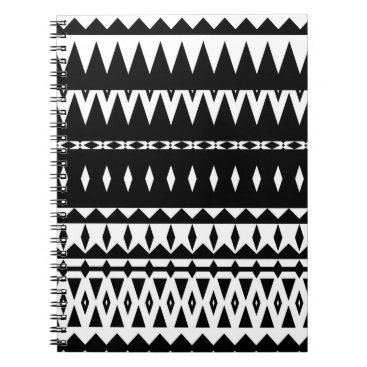 Aztec Themed Aztec - Classic Black And White Notebook