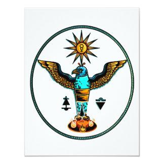 aztec clear orange blue eagle sun symbols pagan .p announcements