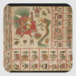 Aztec Codex Borbonicus Square Stickers