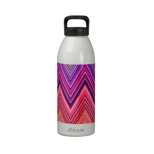 Aztec Colorful Girly ZigZag Pattern Drinking Bottles