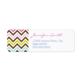 Aztec Colors - Chic Chevron Zigzag Pattern Label