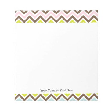 Aztec Themed Aztec Colors - Chic Chevron Zigzag Pattern Notepad