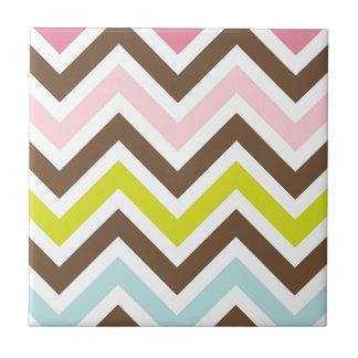 Aztec Colors - Chic Chevron Zigzag Pattern Tile