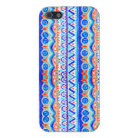 Aztec Colourful Blue Orange And White Pattern iPhone 5/5S Covers