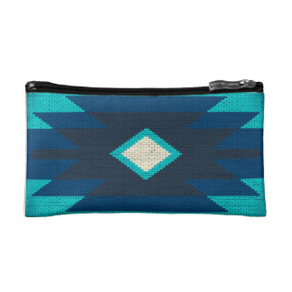 Aztec cool geometric design makeup bag