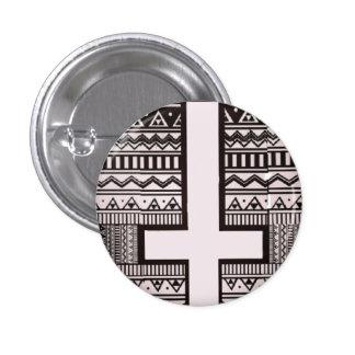 aztec cross design button