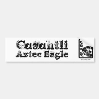 Aztec Cuauhtli - Eagle (Black) Bumper Sticker