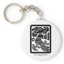 Aztec Cuauhtli - Eagle (Black) Keychain
