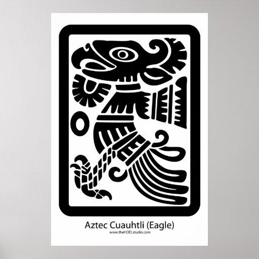 Aztec Cuauhtli - Eagle (Black) Print