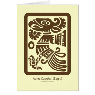 Aztec Cuauhtli - Eagle (Brown) Card