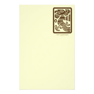 Aztec Cuauhtli - Eagle (Brown) Stationery