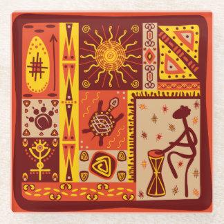 Aztec Design Glass Coaster