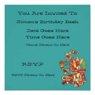 Aztec Design Invitation