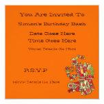 """Aztec Design Invitation 5.25"""" Square Invitation Card"""
