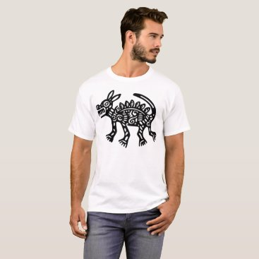Aztec Themed Aztec Dog Illustration T-Shirt