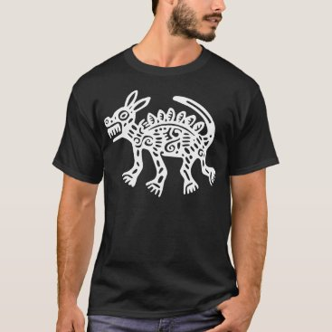 Aztec Themed Aztec Dog Inverse Illustration T-Shirt