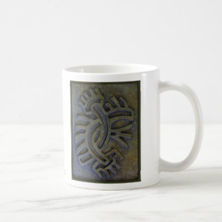 """Aztec Double Flower"" Simulated Artifact Coffee Mug"