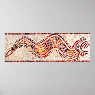Aztec Dragon Mosaic Poster