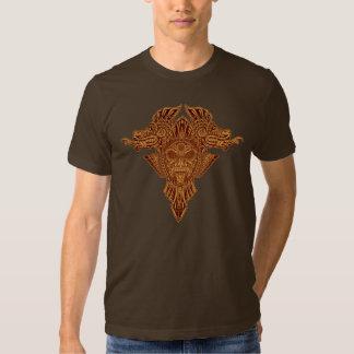 Aztec Dragons Mask (brown) Tee Shirt
