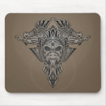Aztec Dragons Mask (grey) Mouse Pad