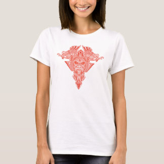 Aztec Dragons Mask (red) T-Shirt