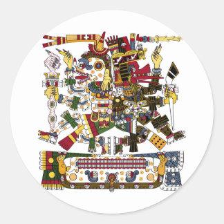 Aztec Duality Classic Round Sticker