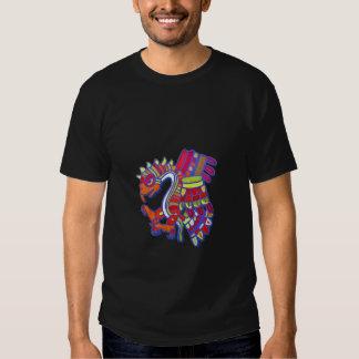 aztec eagle2black t-shirt