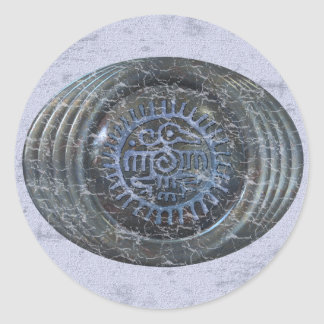 Aztec Eagle Classic Round Sticker