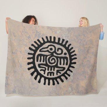 Aztec Themed Aztec Eagle Fleece Blanket