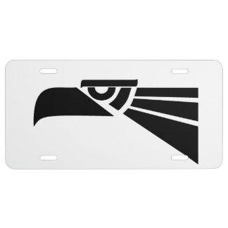 Aztec eagle license plate