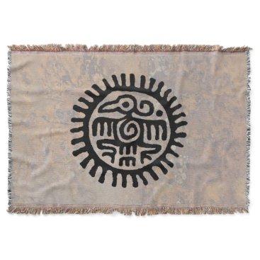 Aztec Themed Aztec Eagle Throw