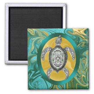 Aztec Emblem Sea Turtle Magnet