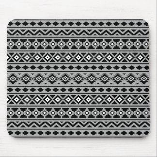 Aztec Essence Horizontal Ptn II Black White Grey Mouse Pad