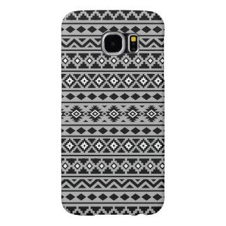 Aztec Essence II Black White Grey Samsung Galaxy S6 Cases