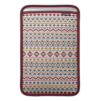 Aztec Essence II (H) Ptn Red Blue Gold Cream Sleeve For MacBook Air