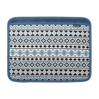 Aztec Essence II Horizontal Ptn Blue Black White Sleeve For MacBook Air