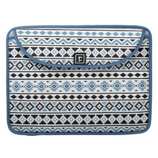 Aztec Essence II Horizontal Ptn Blue Black White Sleeve For MacBook Pro
