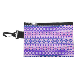 Aztec Essence II Horizontal Ptn Pinks Blue Purple Accessories Bag