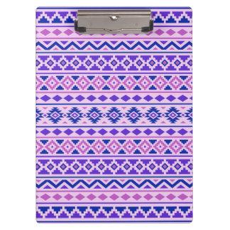 Aztec Essence II Horizontal Ptn Pinks Blue Purple Clipboard