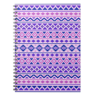Aztec Essence II Horizontal Ptn Pinks Blue Purple Notebook