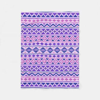 Aztec Essence II Pattern Pinks Blue Purple Fleece Blanket