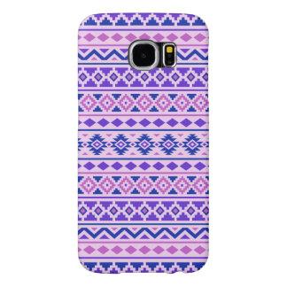 Aztec Essence II Pattern Pinks Blue Purple Samsung Galaxy S6 Cases