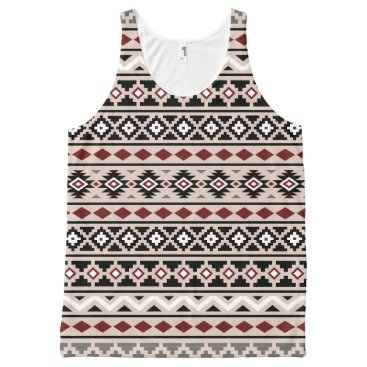 Aztec Themed Aztec Essence II Ptn Black White Grey Red Sand All-Over-Print Tank Top